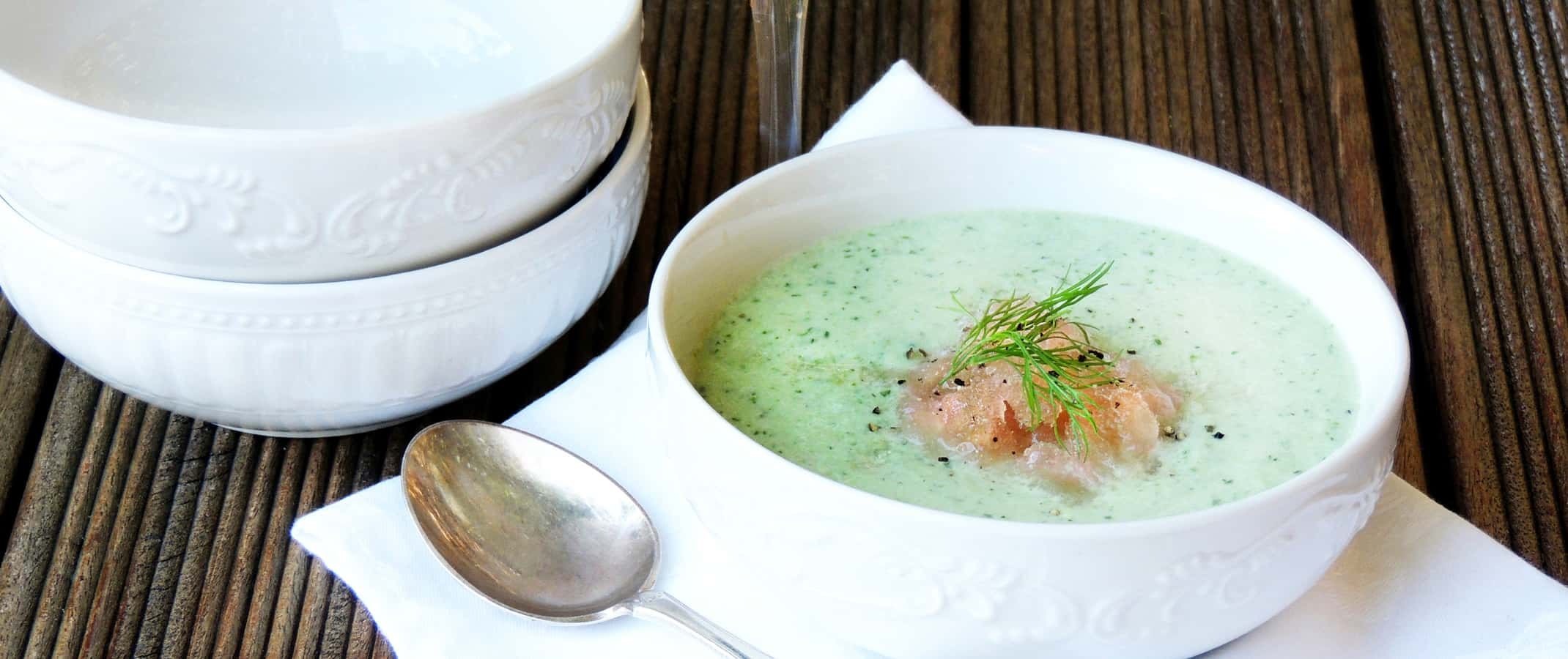 Cucumber & Herb Soup with Verjuice Granita